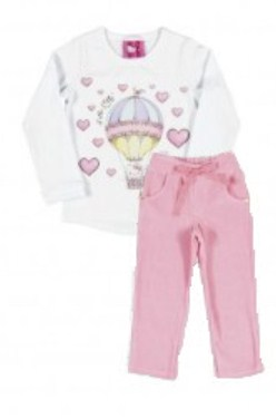 Conjunto Blusa Cotton e Calça Plusch