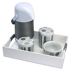 Kit Higiene Estampado Lua Bola Cinza