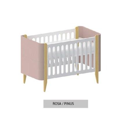 Berço Bo Pinus Rosa Old