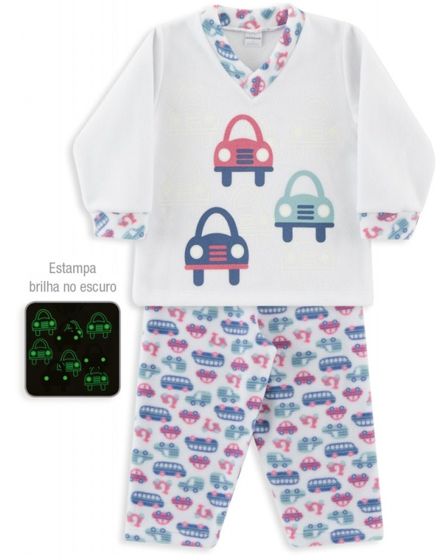 Pijama Microsoft Off White Carrinho