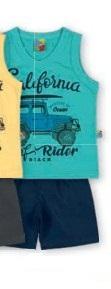 Conjunto Camiseta em Malha Bermuda Microfibra