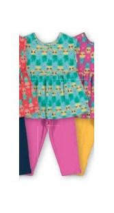 Conjunto Blusa em Malha e Calça Corsário em Cotton Light
