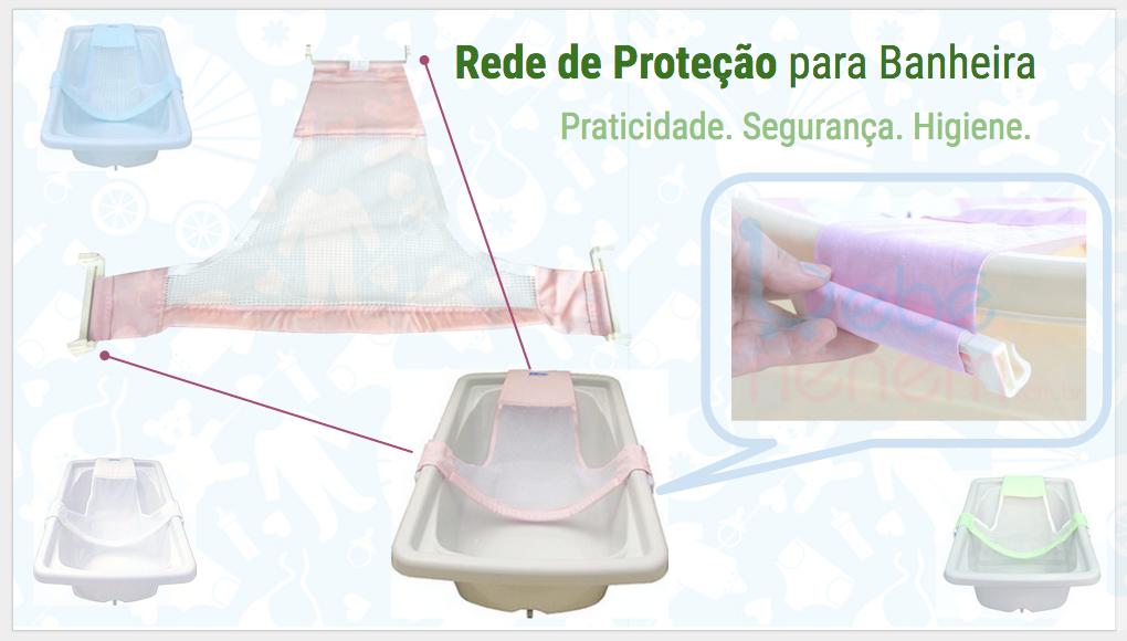 Rede para banho do bebê