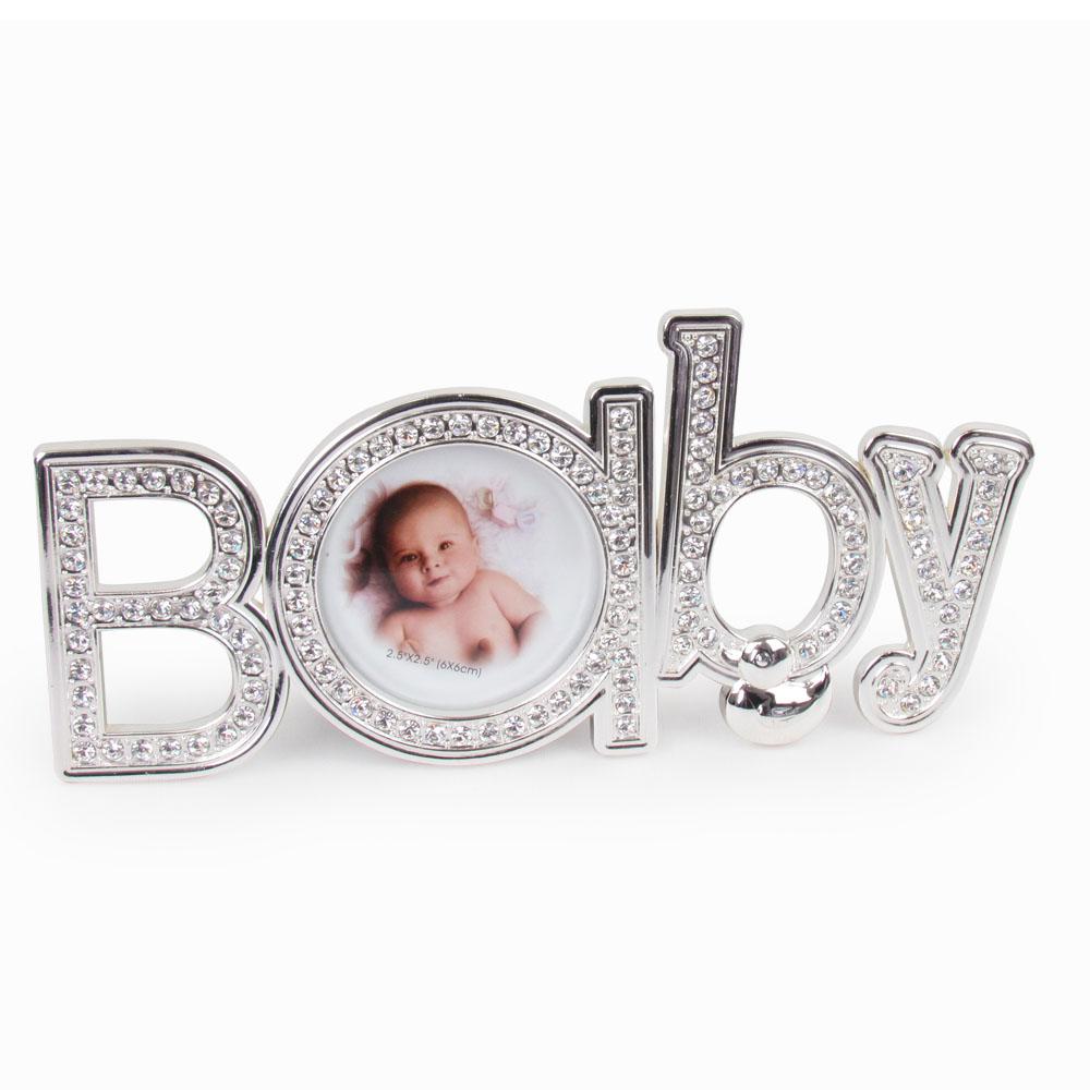 Porta retrato baby strass
