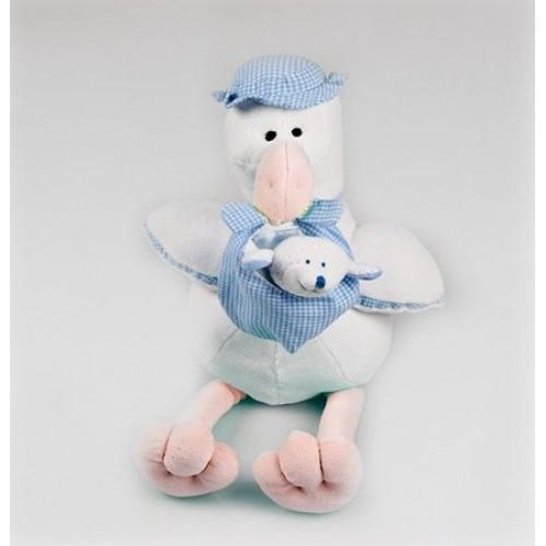 Boneco Cegonha Azul